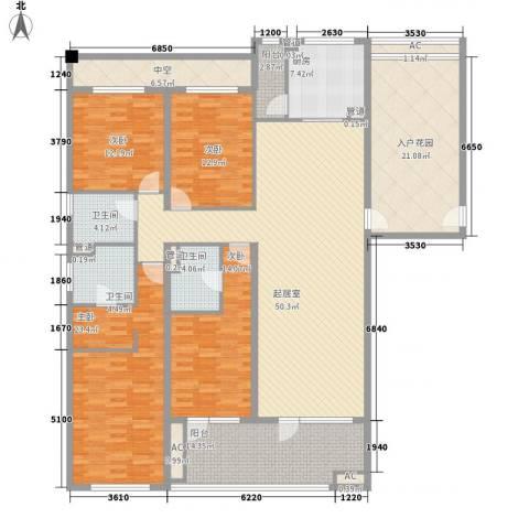 富力丹麦小镇别墅4室0厅3卫1厨186.00㎡户型图