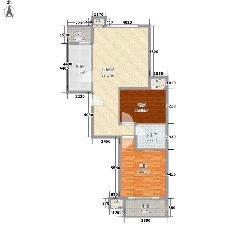 隆鑫广场133.00㎡户型2室