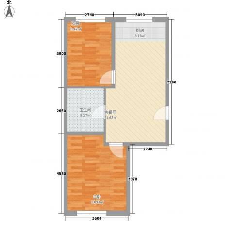 鑫兴君府小区2室1厅1卫0厨115.00㎡户型图