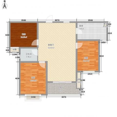 振华别墅3室1厅1卫1厨385.00㎡户型图