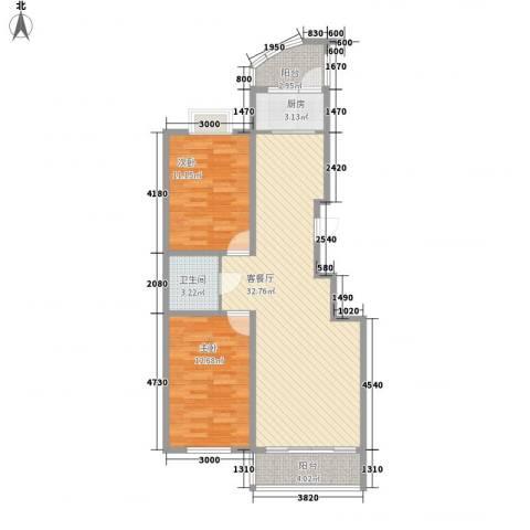 新苑小区2室1厅1卫1厨102.00㎡户型图
