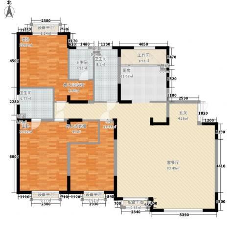 哈佛特区3室1厅3卫0厨177.71㎡户型图