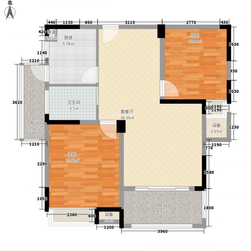 景发花园98.00㎡景发花园2室户型2室