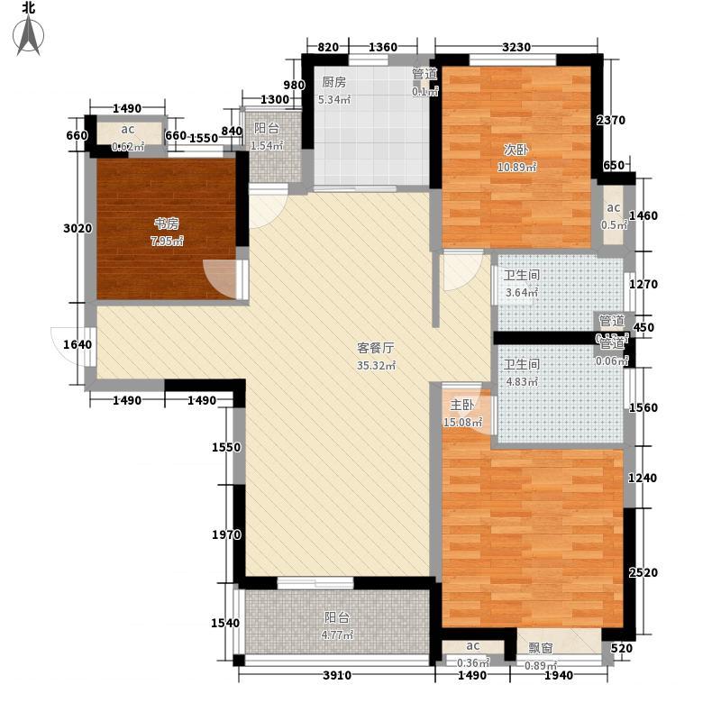 中海国际社区120.00㎡东郡B区9#楼F户型