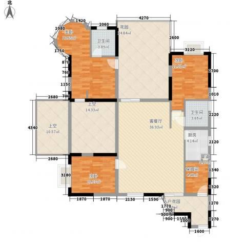 泰正花园3室1厅2卫1厨206.00㎡户型图