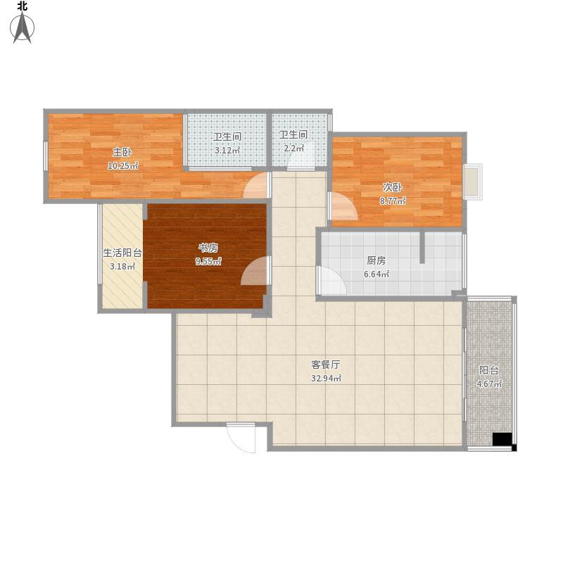 邓州财富世家3期2#楼户型-设计方案