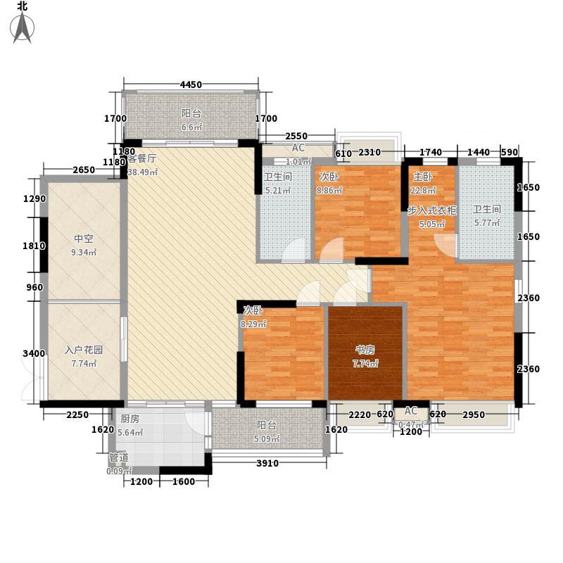 半山名苑别墅13.70㎡小腕洋房D户型4室2厅2卫1厨