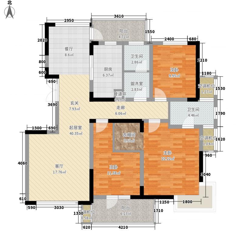 昆仑橡树园130.00㎡昆仑橡树园户型10室
