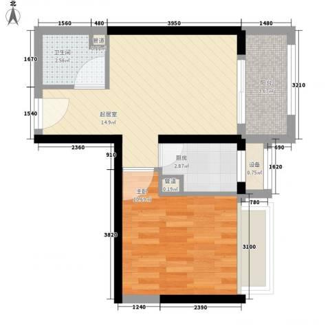 瑞和山水居1室0厅1卫1厨54.00㎡户型图