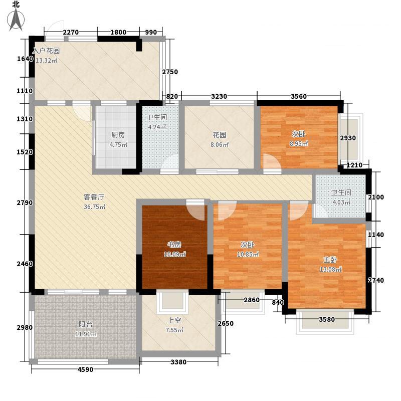 成都后花园国宾红�138.00㎡H户型3室2厅2卫1厨