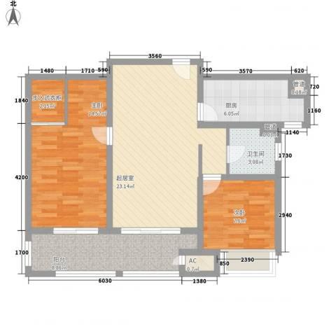 武进吾悦广场2室0厅1卫1厨98.00㎡户型图