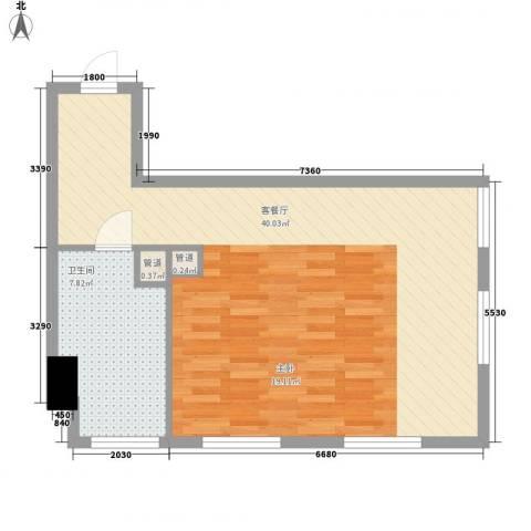 金宇・新天地1厅1卫0厨67.00㎡户型图