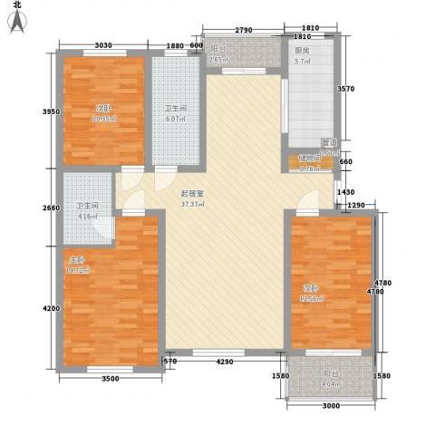 枫尚奥园3室0厅2卫1厨126.00㎡户型图