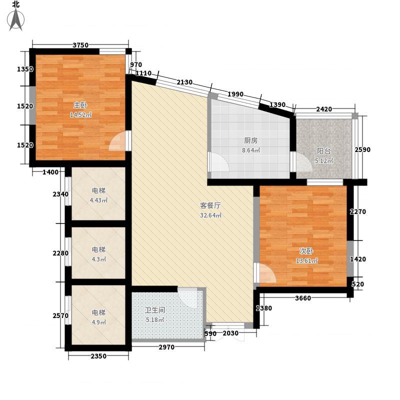 未来城105.59㎡未来城户型图AB户型2室2厅1卫户型2室2厅1卫