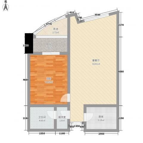 未来城1室1厅1卫1厨94.00㎡户型图