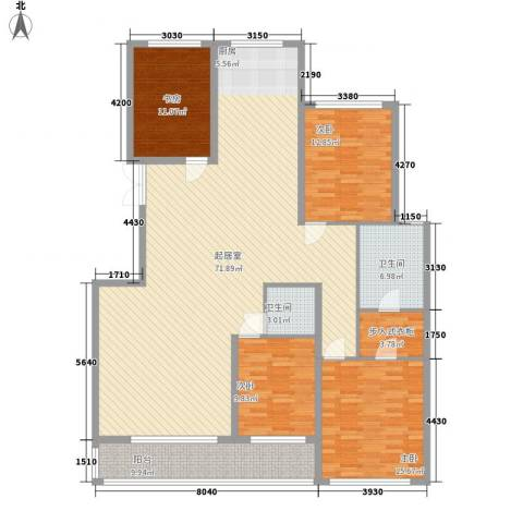 金花园4室0厅2卫0厨186.00㎡户型图