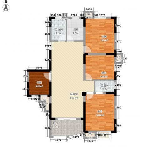 紫金山庄4室0厅2卫1厨120.00㎡户型图