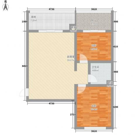 御龙苑项目2室0厅1卫1厨101.00㎡户型图