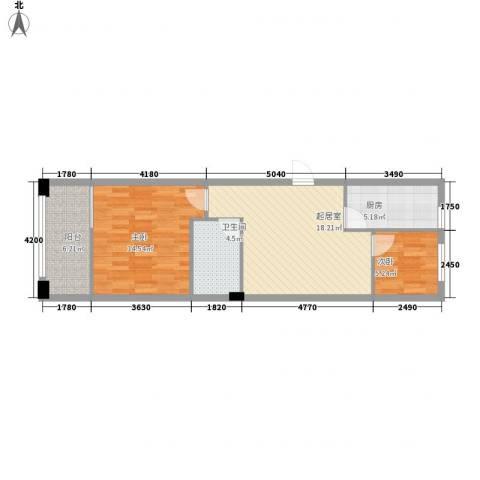 青霖嘉园2室0厅1卫1厨73.00㎡户型图