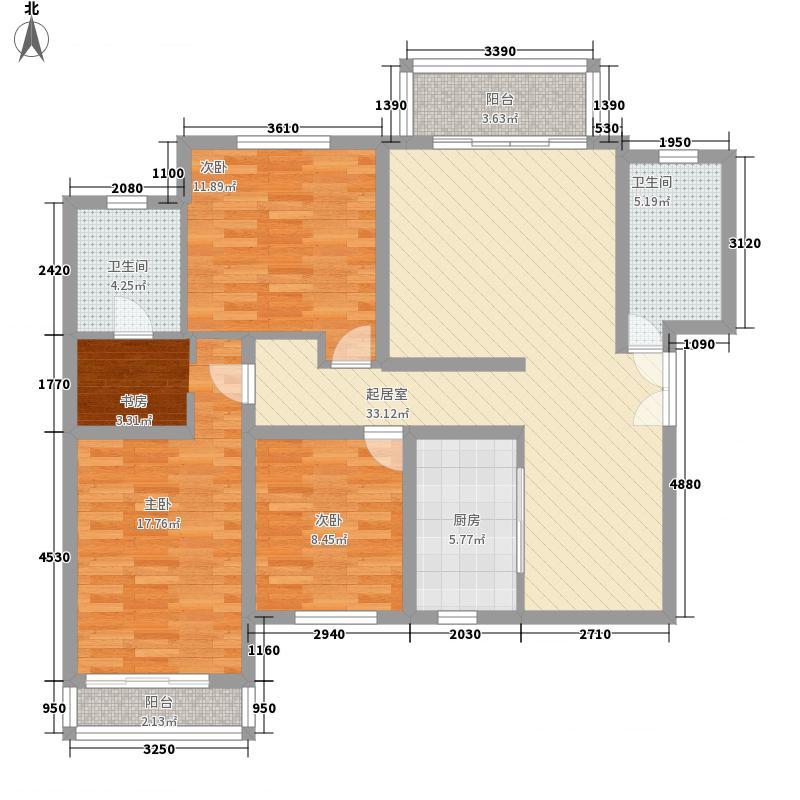 银丰山庄136.98㎡银丰山庄户型图一期6、7号楼户型3居室3室2厅2卫户型2厅2卫