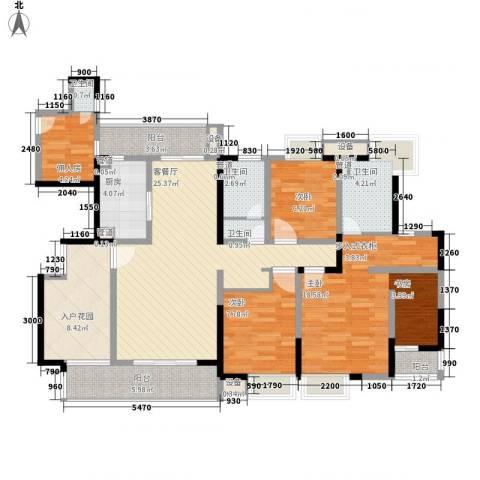 华润置地中央公园别墅3室1厅4卫1厨112.00㎡户型图