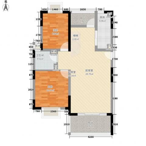 椰林嘉园2室0厅1卫1厨165.00㎡户型图