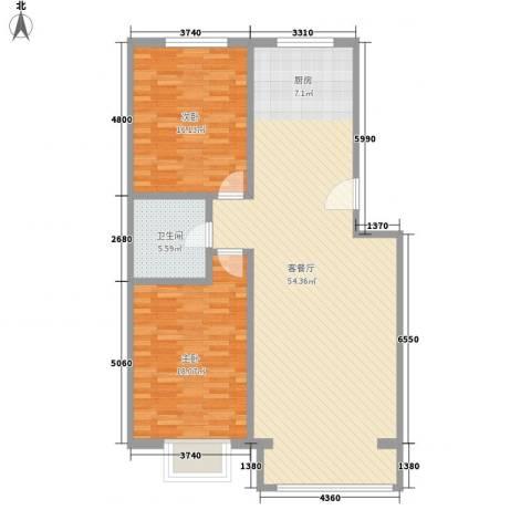 千家和众新家园2室1厅1卫0厨117.00㎡户型图
