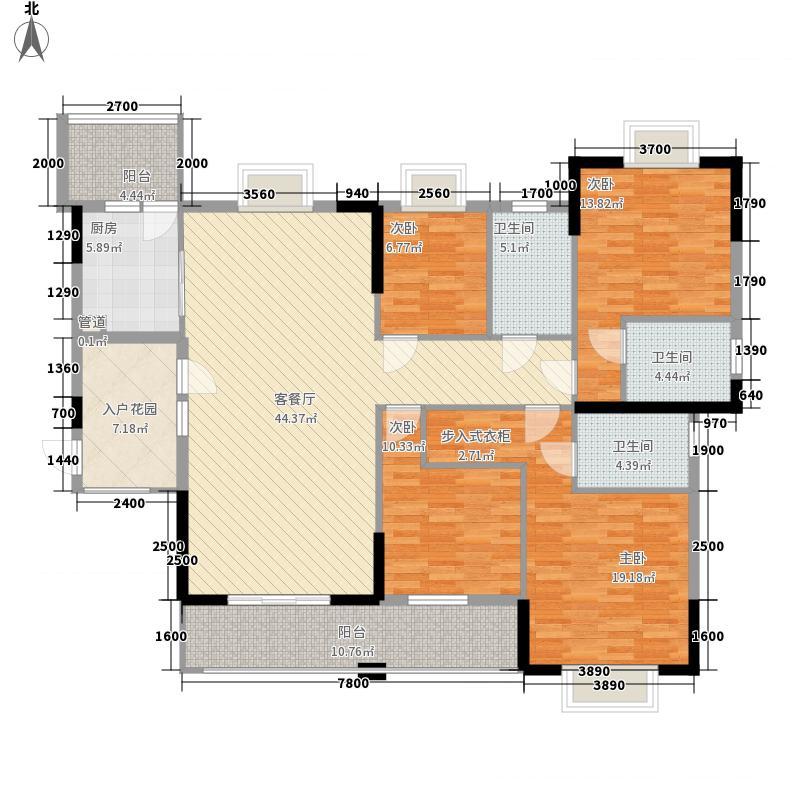 汇侨新城16.77㎡25座标准层01户型4室4厅4卫1厨