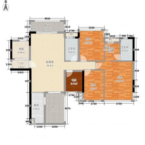 盛天公馆|88街区3室0厅2卫1厨128.00㎡户型图