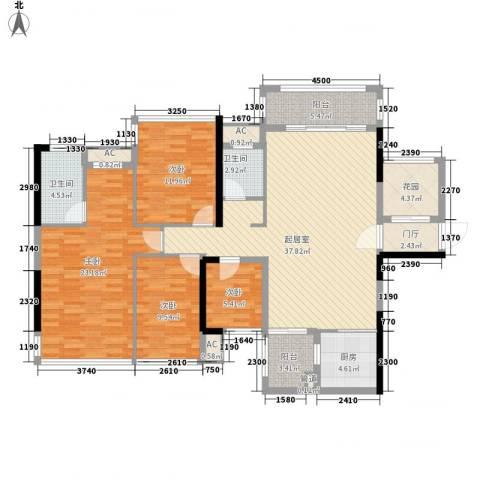 盛天公馆|88街区4室0厅2卫1厨127.00㎡户型图
