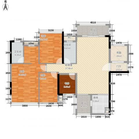 盛天公馆|88街区4室0厅2卫1厨128.00㎡户型图