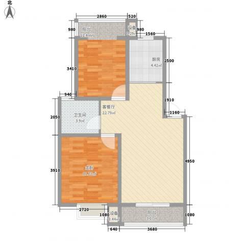 枫津路小区2室1厅1卫1厨82.00㎡户型图