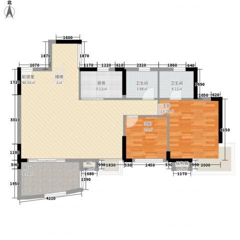 海韵假日休闲公寓2室0厅2卫1厨214.00㎡户型图