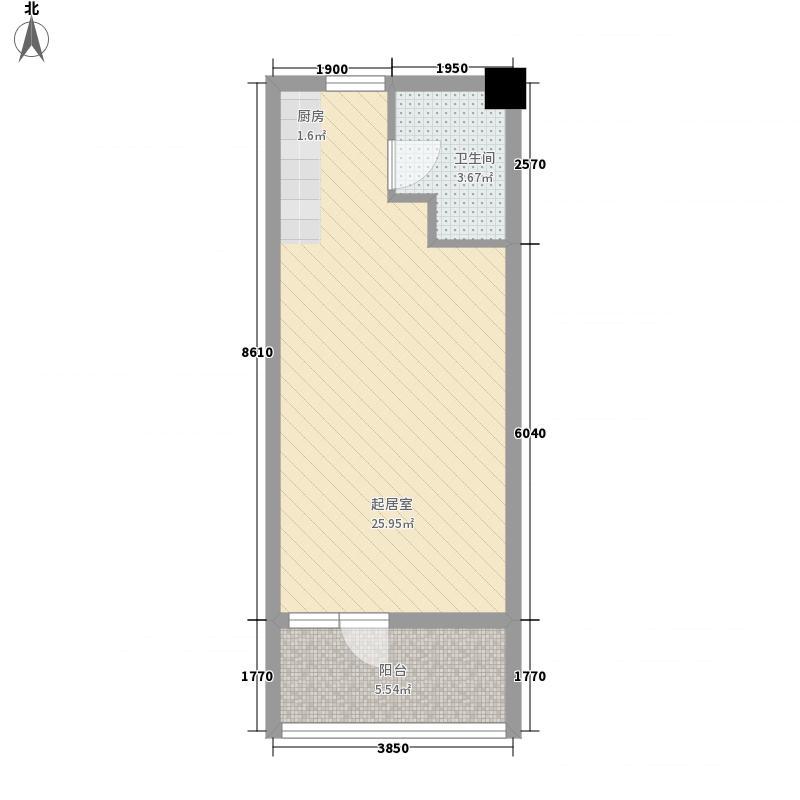百乐小区54.00㎡百乐小区1室户型1室