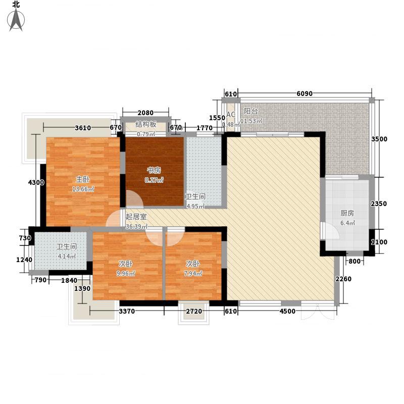 新世纪豪园添一居149.00㎡新世纪豪园添一居3室户型3室