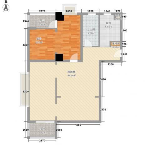 璞俪公馆1室0厅1卫1厨124.00㎡户型图