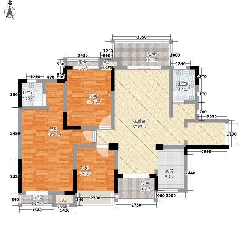 华御公馆16号楼E户型