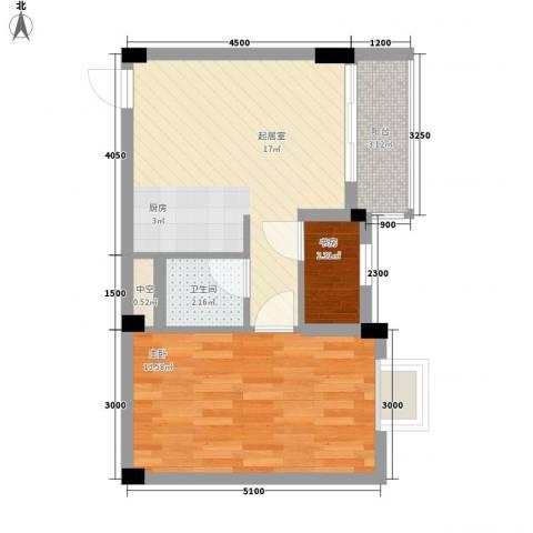 叠美居2室0厅1卫0厨44.00㎡户型图