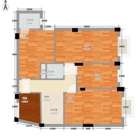 叠美居5室0厅2卫0厨136.00㎡户型图