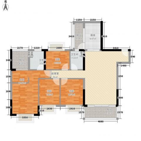 恒大山水城别墅4室0厅2卫1厨140.00㎡户型图