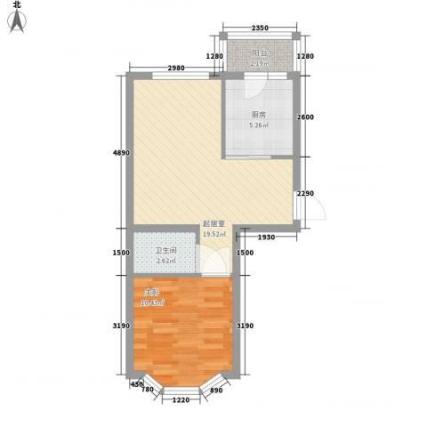 亿兴润景1室0厅1卫1厨58.00㎡户型图