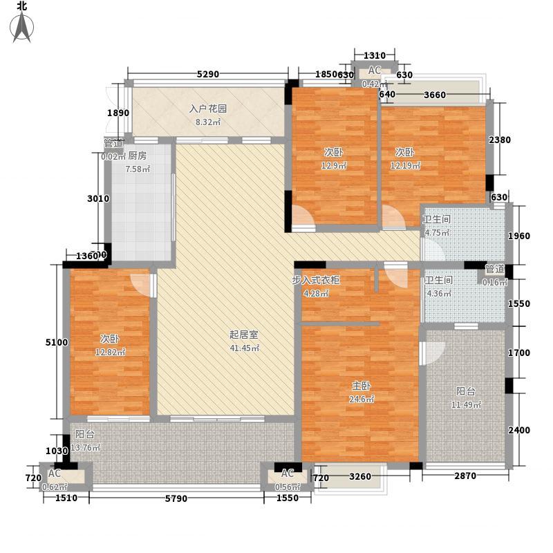 协信城立方122.00㎡一期洋房12、13、14栋F标准层户型