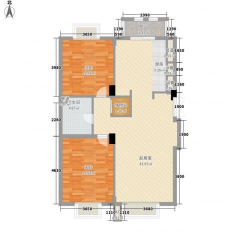 美林逸墅2室0厅1卫0厨116.00㎡户型图