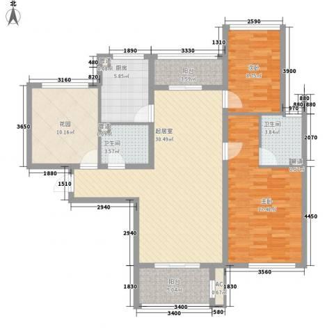 星光城2室0厅2卫1厨129.00㎡户型图