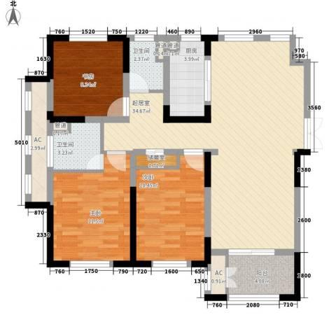 宝华家天下3室0厅2卫1厨123.00㎡户型图