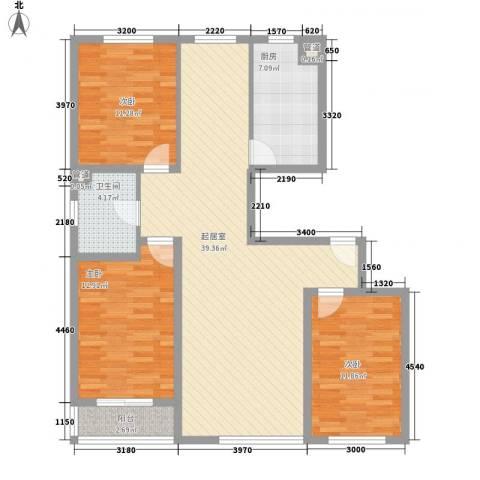解放路防疫站宿舍3室0厅1卫1厨89.55㎡户型图