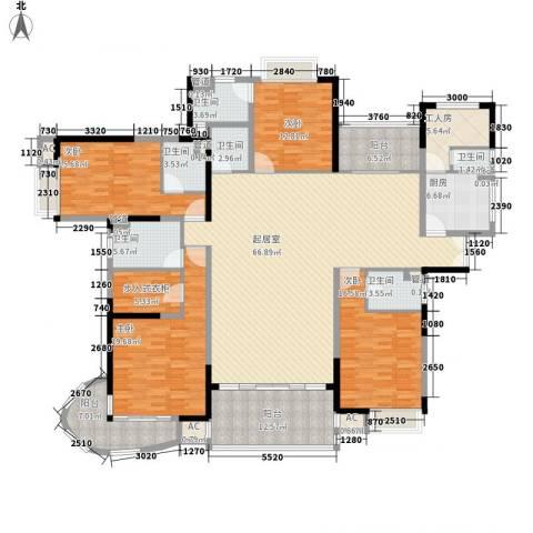 愉景花园4室0厅6卫1厨282.00㎡户型图