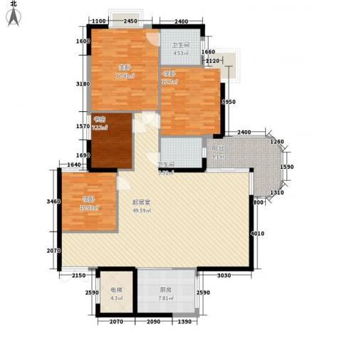 盈彩美地4室0厅2卫1厨175.00㎡户型图