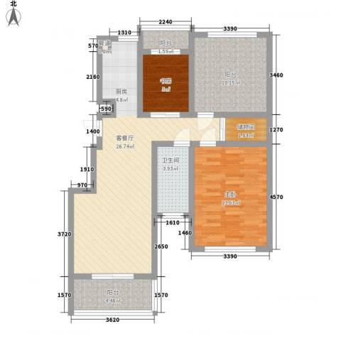 金世湾2室1厅1卫0厨100.00㎡户型图