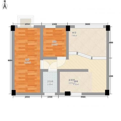 叠美居2室0厅1卫0厨92.00㎡户型图